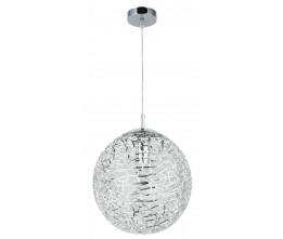 Rábalux 6100 Adria pendant, E27, 60W chrome