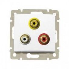 Legrand Valena - Audio-video zásuvka 3 RCA, biela - 770084