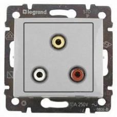 Legrand Valena - Audio-video zásuvka 3 RCA, hliník - 770284